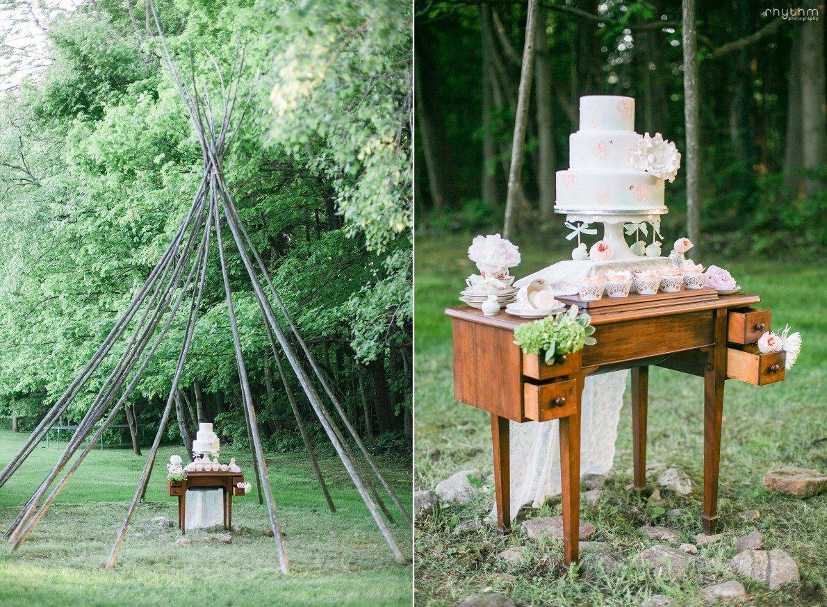 Wedding Cake at Pathway to Perennials Photo