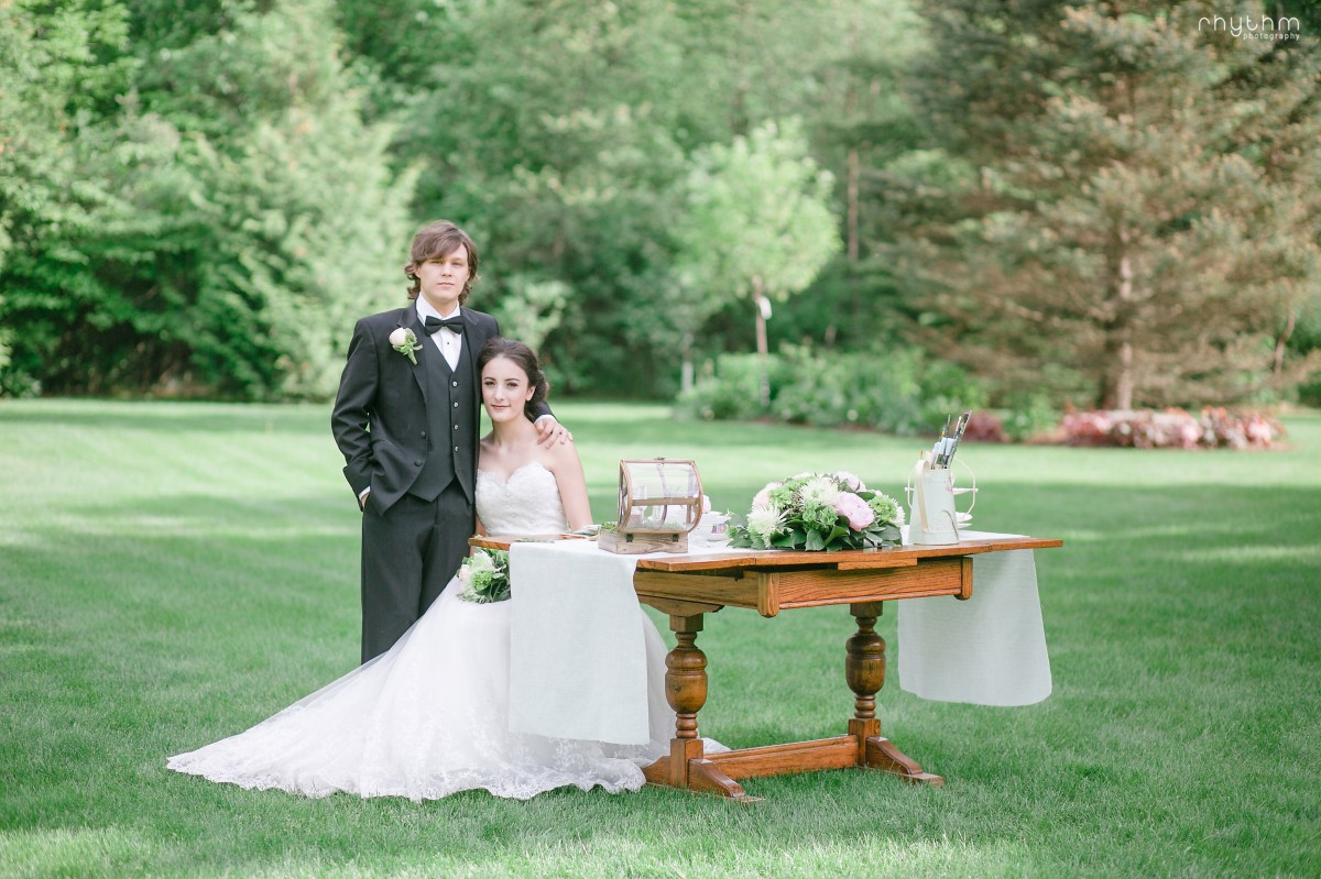 Vintage Wedding Photo at Pathway to Perennials