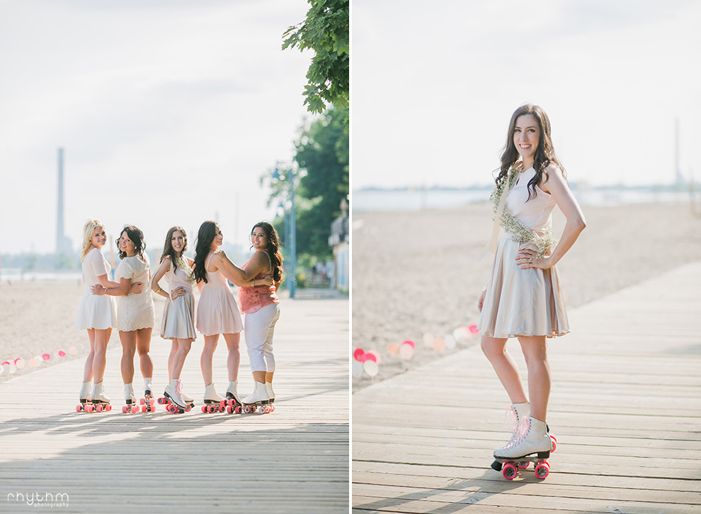 Toronto Ashbridges Bay Bachelorette Rollerskating Photos