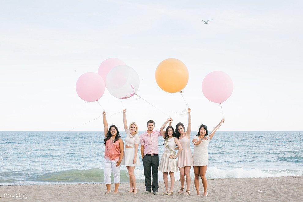 Toronto Ashbridges Bay Bachelorette Balloons Photos