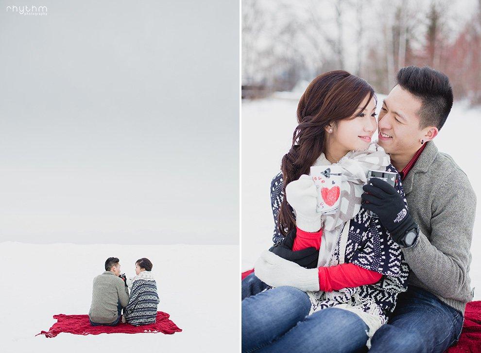 Toronto Ward's Island Winter Engagement Photos