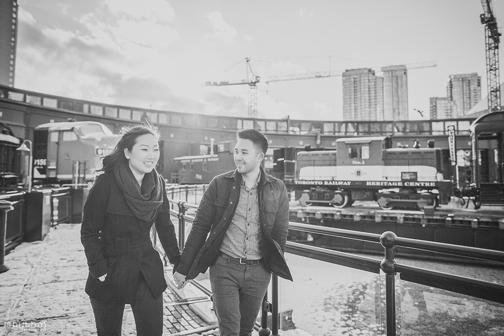 Winter Steam Whistle Brewery Engagement Photos