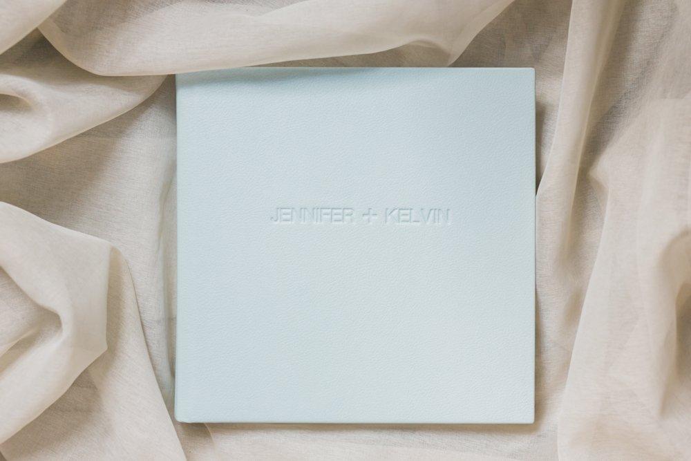 Light_Blue_Leather_Wedding_Album-Rhythm_Photography