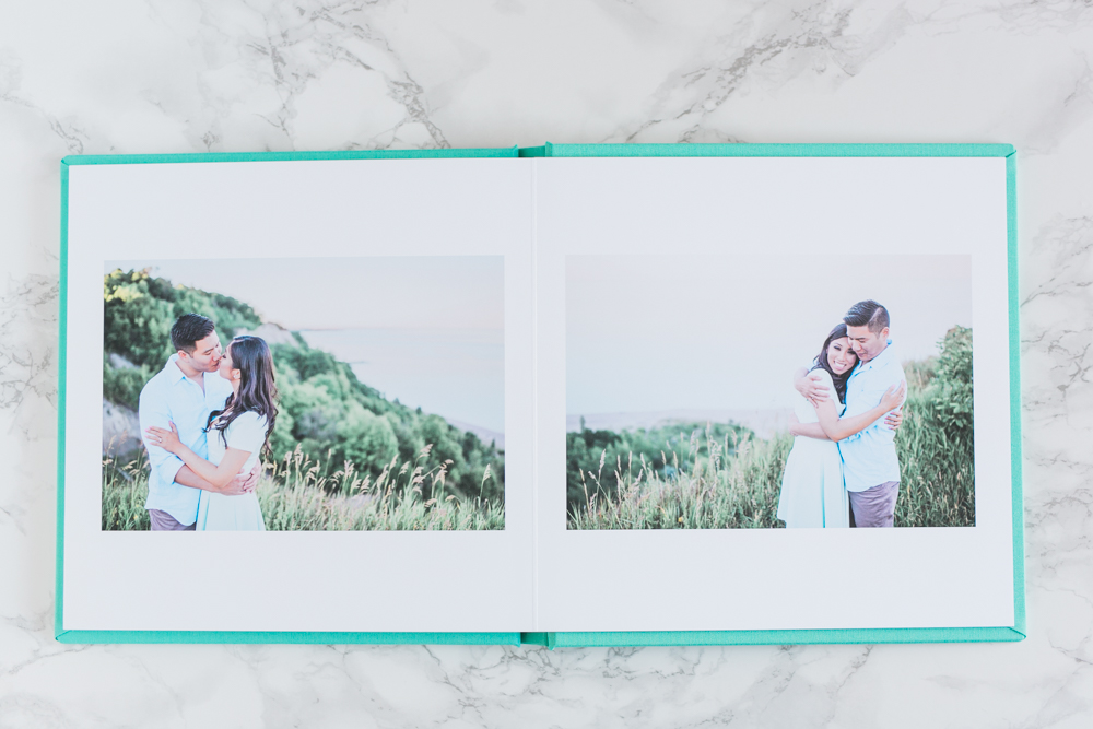 Turquoise_Linen_wedding_guestbook
