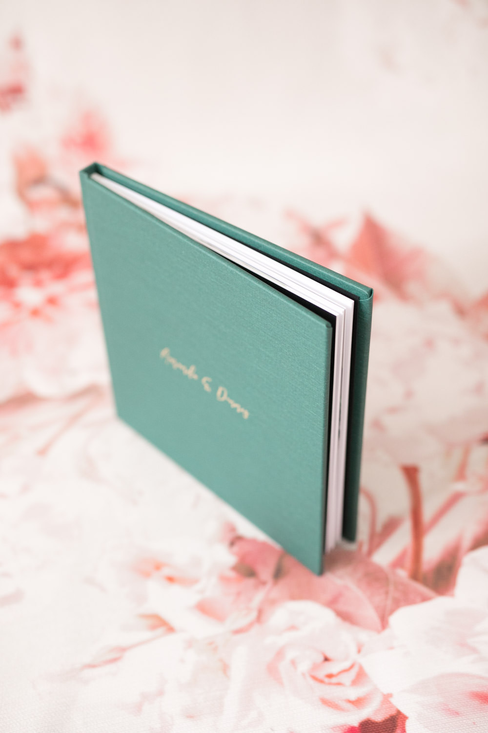 Green Hardcover Engagement Album