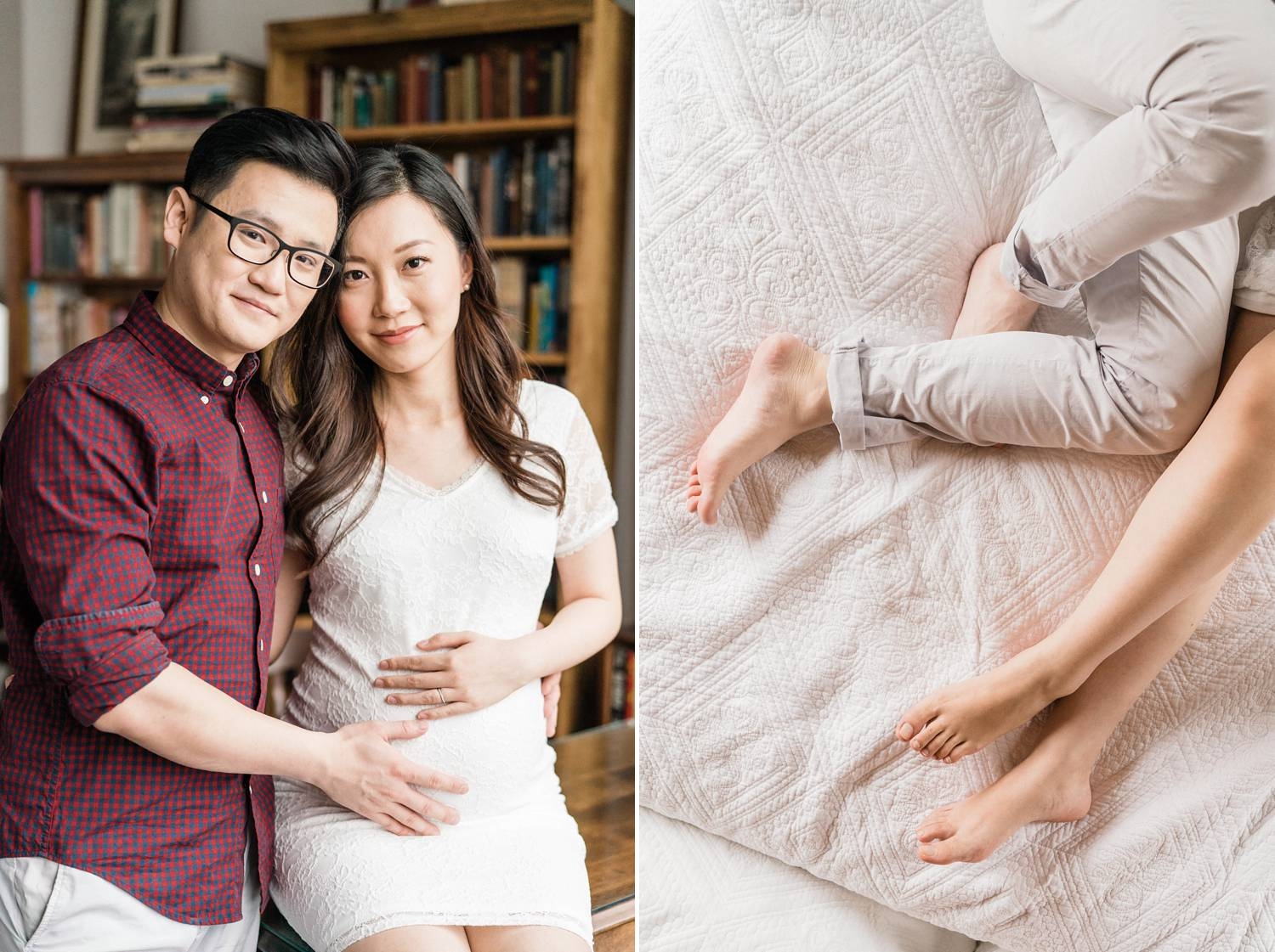 Bon Soleil Studio Indoor Maternity Photo